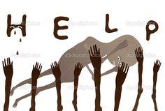 Ayudar a los niños pobres de África — Vector de stock © gracel1221 ...
