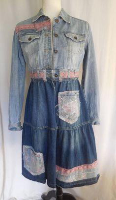 Tremendous Sewing Make Your Own Clothes Ideas. Prodigious Sewing Make Your Own Clothes Ideas. Jeans Denim, Denim Coat, Denim Flares, Unique Outfits, Boho Outfits, Denim And Lace, Blue Denim, Newspaper Dress, Diy Clothes Videos