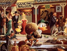 """""""Nobody's Spending Fool"""" painting by Carl Barks 1974"""