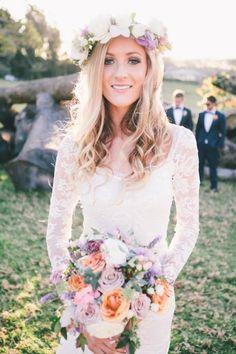 Ivory Lace Wedding Dress long Sleeve Wedding by RomantourBridal, $219.99