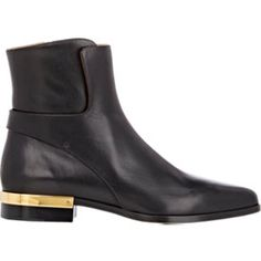 Leather Plated-Heel Boots