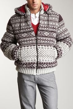 Patterned Sweater Jacket