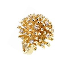 Up to Ambre & Louise Gold Ring – Sparkling Hedgehog – Women's Rings Gold Rings, Women's Rings, Hedgehog, Creations, Sparkle, Floral, Jewelry, Jewelry Collection, Crystals