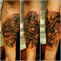 Perseus tattoo stone effect