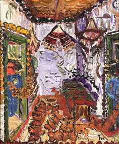 Ion Ţuculescu – Interior ţărănesc, (ulei/pânză, 62 x 52 cm), nr. Art Database, Art History, Cover, Artwork, Blog, Paintings, Romania, Inspire, Interiors