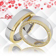 🔸 Partnerringe aus Edelstahl 🔸 mit Steinen umrundet & teils vergoldet 🔸 nur noch 69€ / Paarpreis 🔸 inkl. Versand 🔸 inkl. Gravur 🔸 inkl. Ring-Etui