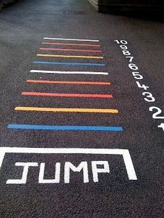Creative playground markings.