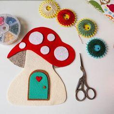 Sneak peak of my current craft project. Any guesses what it will be?  . . #fairytale #makingpeoplehappy #thecraftdesk #mushroom #toadstool #felt #craft #inprogress #onmydesk #custommade #handcrafted #handmade #flatlay #etsy #etsyuk #etsyfinds #etsyshop #etsyseller #makersgonnamake