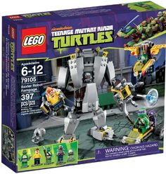 Lego Teenage Ninja Mutant Turtles Set Baxter Robot Rampage includes 4 minifigures and a mouser mini robot. Kids love Donatello & Raphael as they fight Baxter to save April. Teenage Mutant Ninja Turtles, Ninja Turtle Toys, Teenage Ninja, Lego Creator, Tmnt, Lego Ninja, Ninja Games, Legos, Handmade Crafts