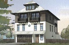 Beach hose with infiniti pool! 2801 sq ft House Plan 901-114
