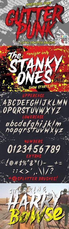 GutterPunk. Best Fonts