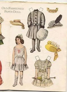 An Old Fashioned Paper Doll, 1909 (2 of 2)