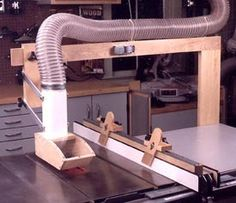 Tablesaw Dust Collector with Tablesaw Hold-Downs Woodworking Plan, Workshop & Jigs Dust Collection
