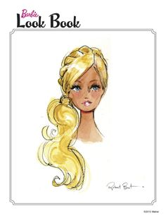 "Robert Best illustration: Barbie Look Book: ""The Tiara Braid"" 