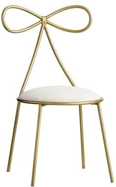 Pottery Barn Teen The Emily & Meritt Bow Chair Gold/Ivory - May 05 2019 at