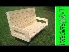 How To Build A 2×4 Porch Swing   Jays Custom Creations.  Has PDF plan, instructions, and video.  Best tutorial on this I've seen yet.