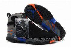 http://www.bejordans.com/air-jordan-8-black-grey-blue-orange-big-discount-hcssq.html AIR JORDAN 8 BLACK GREY BLUE ORANGE BIG DISCOUNT RXAPR Only $90.00 , Free Shipping!