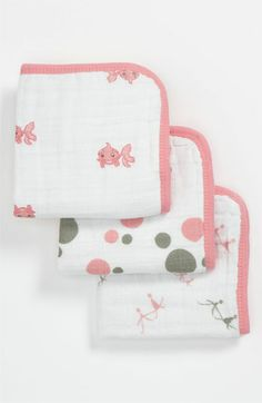 aden + anais Muslin Washcloth Set (3-Pack) available at #Nordstrom
