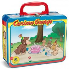 Curious George 24 Piece Puzzle in Tin