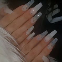 we collected more than 30 whte color nails which inclued almond nail,coffin nail,short nail,nails design,ombre nail.hope you love them. Cute Acrylic Nail Designs, Simple Acrylic Nails, Summer Acrylic Nails, Best Acrylic Nails, Pastel Nails, Clear Acrylic, Nail Swag, Stylish Nails, Trendy Nails