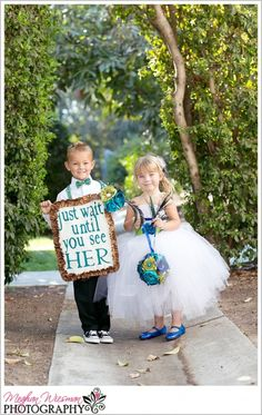 not a fan of signs for the ringbearer, but I absolutely love this one!
