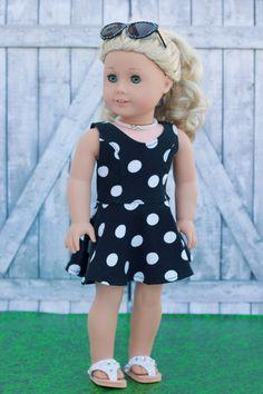 American gemacht Puppenkleider schwarz weißen von Closet4Chloe