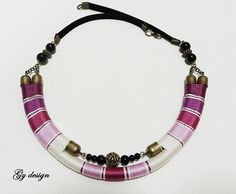 Sylenteri statement necklace handmade wrapped with by Gydesi, $36.00