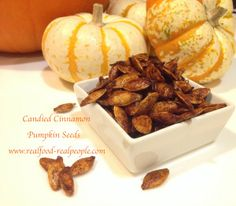 BOUGIED-UP TOASTED PUMPKIN SEEDS Sure, the classic recipe is great, but you have got to try Parmesan Garlic, Candied Cinnamon, and Spicy Garlic Toasted Pumpkin Seeds!