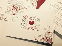 Einladungskarte Hochzeit   Modern Romantic
