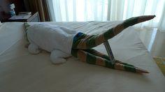 Towel Origami by Miasiena, via Flickr