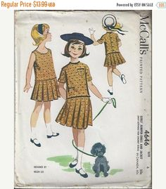 ON SALE VTG 1958 McCall's 4646 Girls by DawnsDesignBoutique