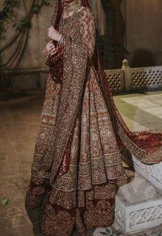 Asian Bridal Dresses, Pakistani Wedding Outfits, Indian Bridal Outfits, Indian Bridal Fashion, Pakistani Wedding Dresses, Wedding Dresses For Girls, Pakistani Dress Design, Asian Fashion, Fancy Dress Design