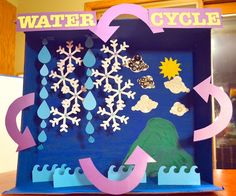 How to make an eco-friendly model on Water Cycle in kids Science ...