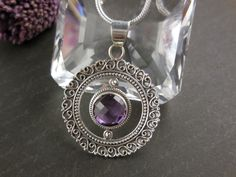 Amethyst Gemstone Sterling Silver Necklace