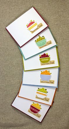 Fruity Stationery Set by Lizzie Jones for Papertrey Ink (May 2015)