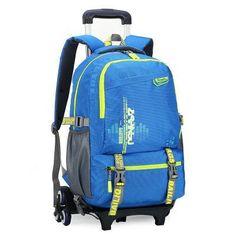 New Kids Trolley School bags Boys Children Removable Backpack 2-6 Wheels  For Children Rolling Backpacks Wheels Girls Schoolbag d57212c86fba2