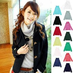 Discount China china wholesale High Quality Women's Rotary Heap Collar Knitting Sweater Candy Colors [31237] - US$13.74 : DealsChic
