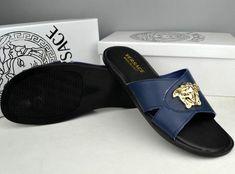 64264550c Versace Medusa Leather Slippers on sale
