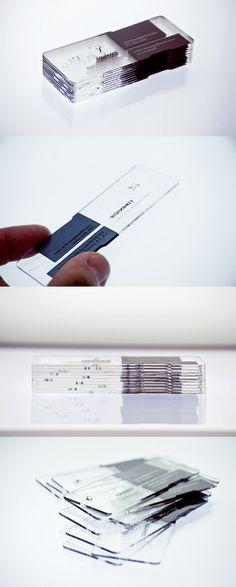 透明壓克力材質 名片設計 | MyDesy 淘靈感