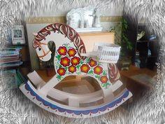 Игрушка Роспись Воронцовые лошадки из пеноплекса Гуашь фото 1