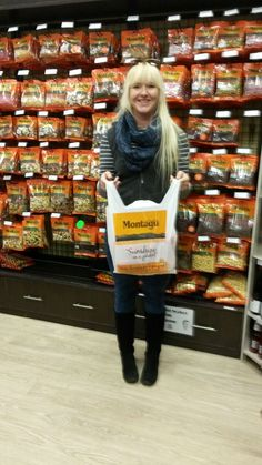 Smiles all round for our hamper winner, Bianca. Congrats on your Dried Fruit, Hamper, Basket