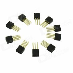 2.54mm 6-Pin Male to Female Pin Headers for Arduino (Works with Official Arduino Board / 10 PCS). Model N/A Quantity 10 Piece Color Black Material PVC English Manual / Spec No Certification No Packing List 10 x Pin headers. Tags: #Electrical #Tools #DIY #Parts #Components