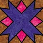 Stained Glass North Star Quilt Block Pattern