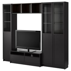 BILLY Bookcase combination with TV bench - IKEA Ikea $438.98