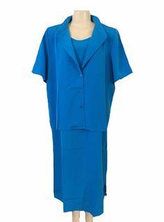 Roaman's Light Blue Sleeveless Dress and Short Sleeve Blouse Size 20W | eBay