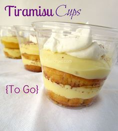Tiramisu Cups - love make ahead goodies that you can just 'pick up and take with you!""