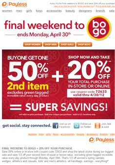 Payless Shoes Coupons PROMO expires June 2020 Hurry up for a BIG SAVERS Payless offers shoes and accessories for men, women and children. Free Coupons Online, Free Printable Coupons, Free Printables, Grocery Coupons, Shopping Coupons, Girls Shopping, Dollar General Couponing, Coupons For Boyfriend, Brand Names And Logos