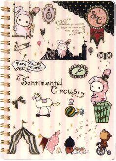 Sentimental Circus ring binder notebook rabbit San-X
