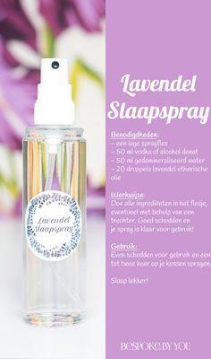 DIY: ontspannende slaapspray met lavendel DIY: Relaxing sleep spray with lavender – Tailored by you Monster Spray, Beauty Care, Diy Beauty, Linen Spray, Diy Spa, Young Living Oils, Doterra Essential Oils, Diffuser Blends, Soap