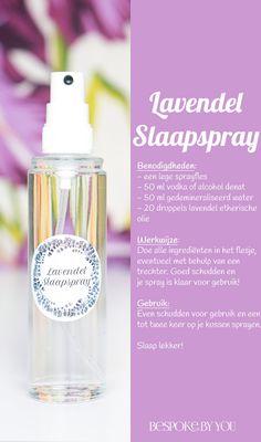Maak je eigen slaapspray met lavendel en val sneller in slaap dankzij de ontspannende geur. Ook geschikt als dromenspray of anti-monsterspray.